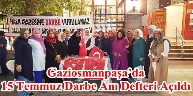 Gaziosmanpaşa'da 15 Temmuz Darbe Anı Defteri Açıldı