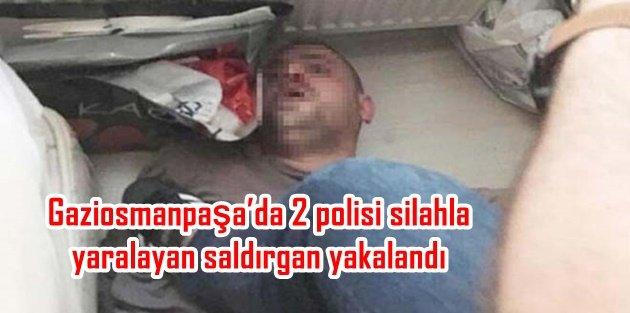 Gaziosmanpaşada 2 polisi silahla yaralayan saldırgan Kocaelinde yakalandı