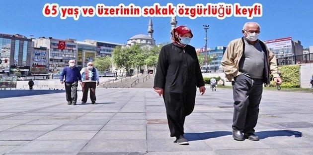 Gaziosmanpaşa'da 65 yaş ve üzerinin sokak özgürlüğü keyfi