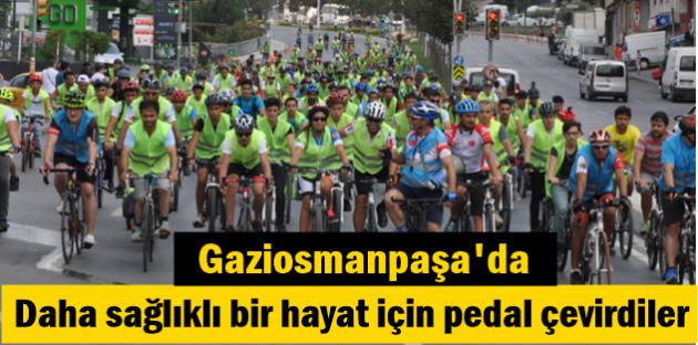 Gaziosmanpaşa'da Daha sağlıklı bir hayat için pedal çevirdiler