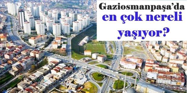 Gaziosmanpaşa'da en çok nereli yaşıyor?