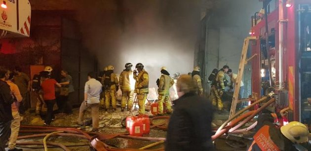 Gaziosmanpaşada fabrika yangını
