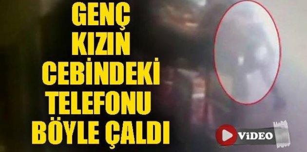 Gaziosmanpaşa'da Genç kızın cebindeki telefonu böyle çaldı!