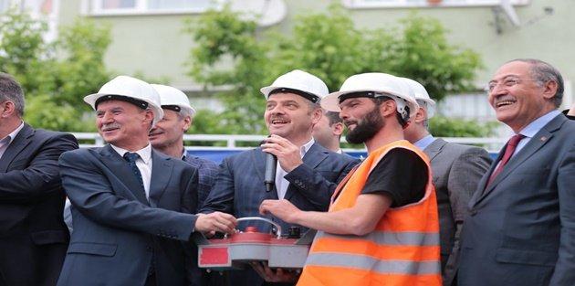 Gaziosmanpaşa'da Hacı Veyis Camii'nin Temeli Atıldı