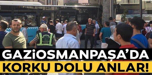 Gaziosmanpaşa'da halk otobüsü kazası