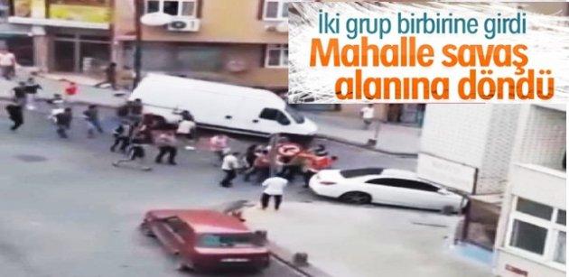 Gaziosmanpaşa'da iki grup arasında kavga çıktı