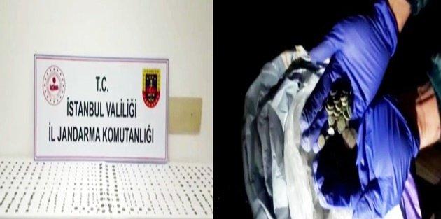 Gaziosmanpaşa'da Jandarma operasyonu: 479 sikke ele geçirildi