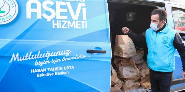 Gaziosmanpaşa'da karantinadaki vatandaşlara her gün sıcak yemek