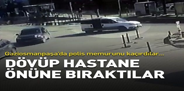 Gaziosmanpaşa'da sanığı kaçırıp polis memurunu darbettiler