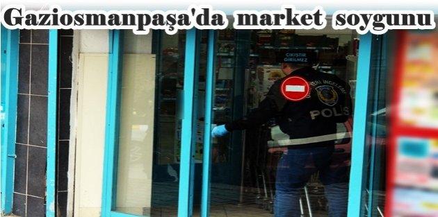 Gaziosmanpaşa'da silahlı ve maskeli şahıs marketi soydu