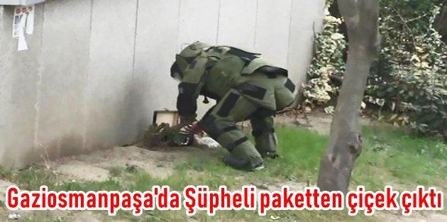 Gaziosmanpaşa'da Şüpheli paketten çiçek çıktı