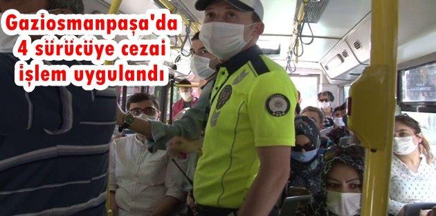Gaziosmanpaşa'da toplu ulaşım denetlendi: 4 sürücüye cezai işlem uygulandı