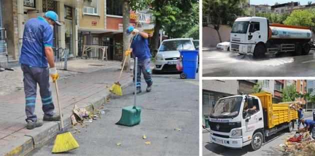 Gaziosmanpaşa'da Tüm Cadde ve Sokaklar Yıkanıp Dezenfekte Ediliyor