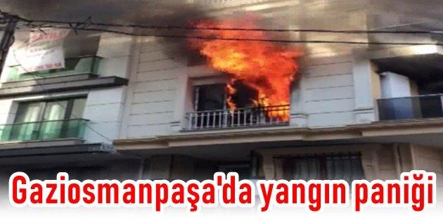 Gaziosmanpaşada yangın paniği