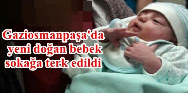 Gaziosmanpaşada yeni doğan bebek sokağa terk edildi