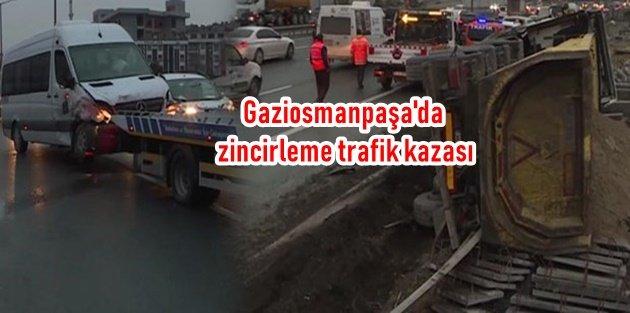 Gaziosmanpaşa'da zincirleme trafik kazası