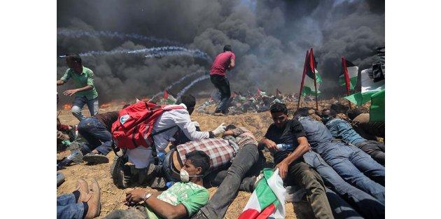 Gazze'de İsrail terörü: 37 şehit, 1693 yaralı