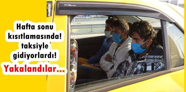 Gebze'den Gaziosmanpaşa'ya taksiyle gidiyorlardı! Yakalandılar...