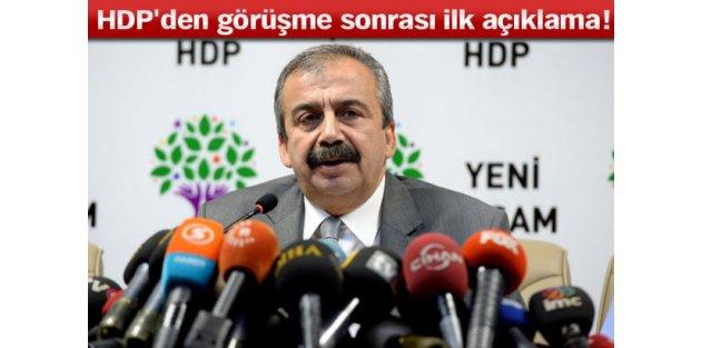 HDP'den görüşme sonrası ilk açıklama!
