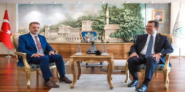 İBB Başkanı Ekrem İmamoğlu'ndan Gaziosmanpaşa Belediyesine ziyaret