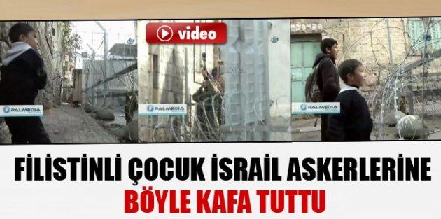 İsrail askerlerine meydan okudu