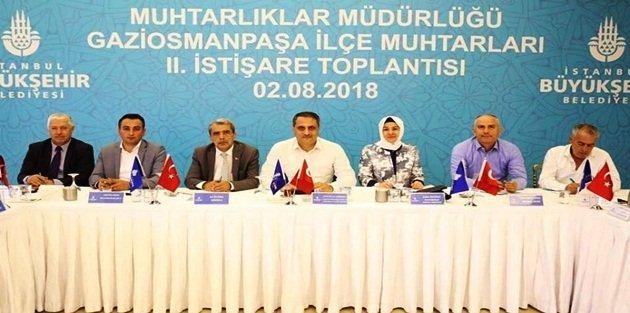 İstanbul Büyükşehir  Belediyesi Gaziosmanpaşalı muhtarları dinledi.