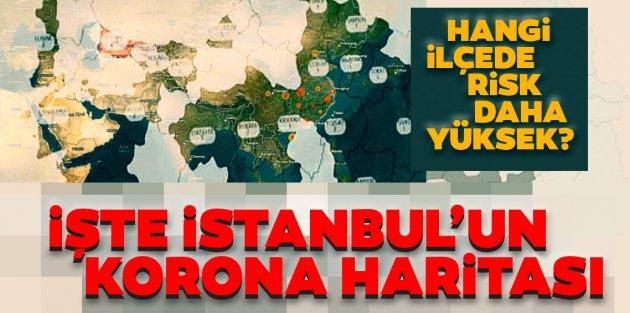 İstanbul corona virüs risk haritası... Hangi ilçeler riskli, hangi ilçeler güvenli?