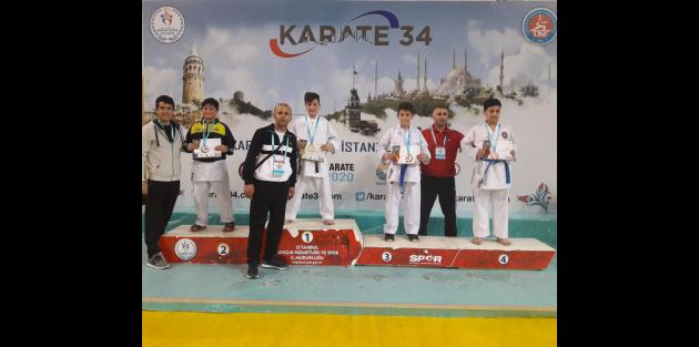 İstanbul İller Arası Karate Şampiyonasında Gaziosmanpaşa Rüzgârı Esti