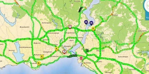 İstanbul'da 2018'in ilk günü yollar boş kaldı