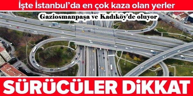 İstanbul'da en çok kaza yapılan yerler tespit edildi: İşte o noktalar
