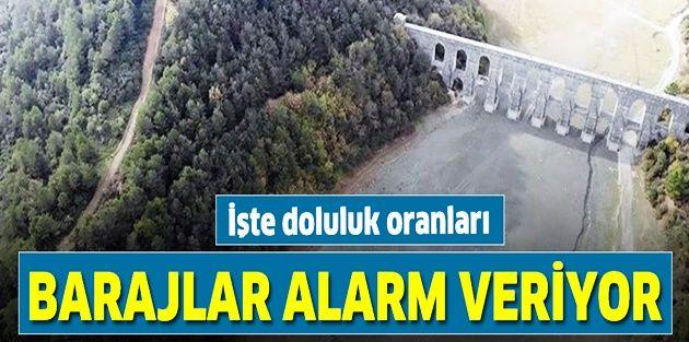 İstanbul'da korkutan tablo! Barajlarında doluluk oranı...