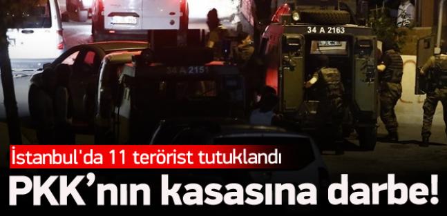 İstanbul'da PKK'nın kasasına darbe!