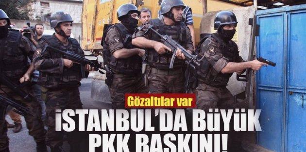 İstanbul'da terör örgütü PKK'ya operasyon: 12 gözaltı