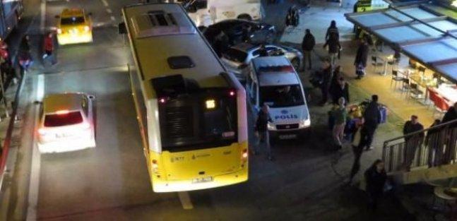 İstanbul'un göbeğinde öfkeli sürücü dehşet saçtı