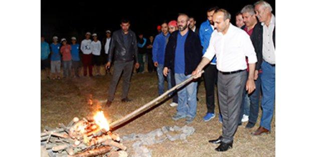 Kamp Ateşini Başkan Baltacı Yaktı