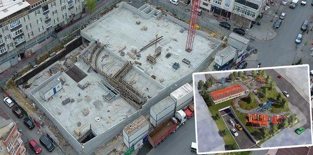 Karadeniz Mahallesi'nde inşa edilen Zeminaltı Otopark İnşaatı Hızla Devam Ediyor