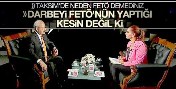 Kılıçdaroğlu'nun Taksim'de FETÖ dememesinin nedeni