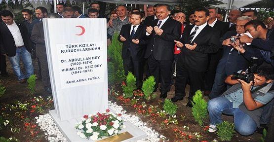 Kızılay'ın kurucularına Eyüp'te anıt mezar yapıldı..