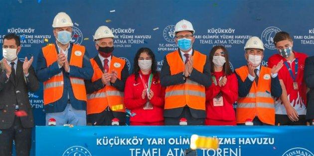 Küçükköy Yarı Olimpik Yüzme Havuzu'nun Temeli Atıldı!