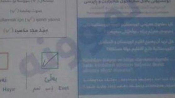 Kuzey Irak'taki İllegal referandumda hazır 'evet' oyu pusulaları dağıtıldığı ortaya çıktı