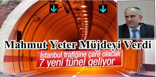 Mahmut Yeter Müjdeyi Verdi: İstanbula 7 bağımsız tünel geliyor