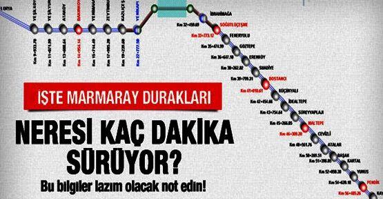 Marmaray'la nereden nereye gidilir? Marmaray durakları