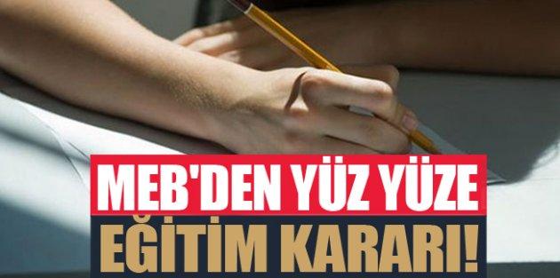Milli Eğitim'den yüz yüze eğitim açıklaması: 11 Ocak'ta başlıyor