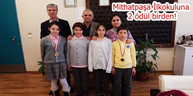 Mithatpaşa İlkokuluna 2 ödül birden!
