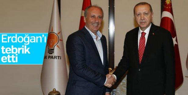 Muharrem İnce, Erdoğan'ı tebrik etti