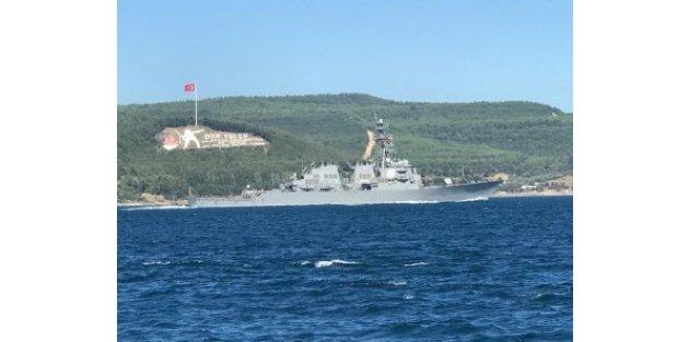 O gemi Çanakkale Boğazı'ndan geçti!