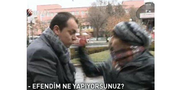 ODTÜ'lüler muhabire saldırdı
