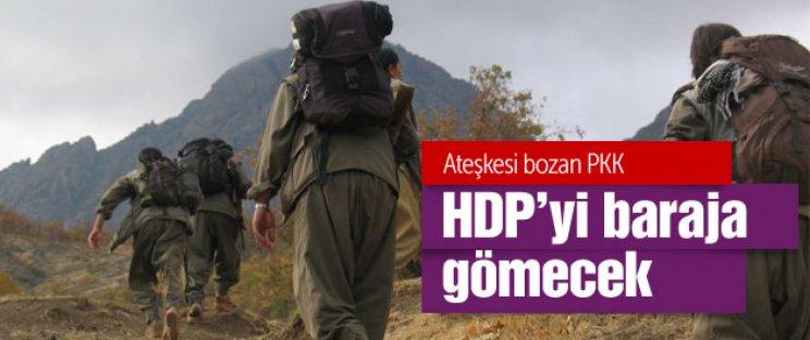 PKK Ağrı'da yol kesti beton mikserini yaktı!