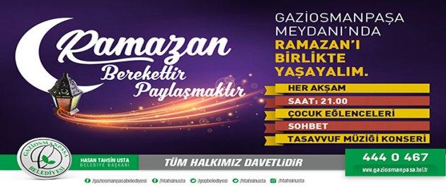 Ramazan Ayının Maneviyatı Gaziosmanpaşa`da Dolu Dolu Yaşanacak