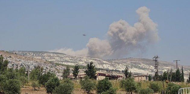 Rusya ve Esed güçleri İdlib ve Hama'da sivil yerleşimler ile bir okulu vurdu